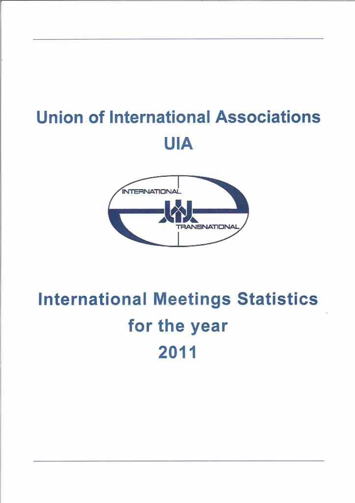 International meetings statistics for the year