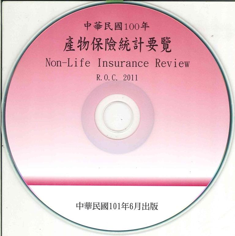 產物保險統計要覽=Non-life insurance review, the Republic of China