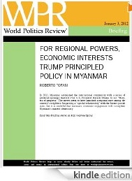 For regional powers, economic interests trump principled policy in Myanmar [e-book]