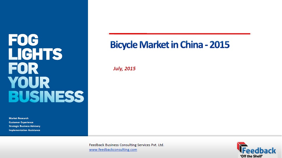 Bicycle market in China [e-book] .2015