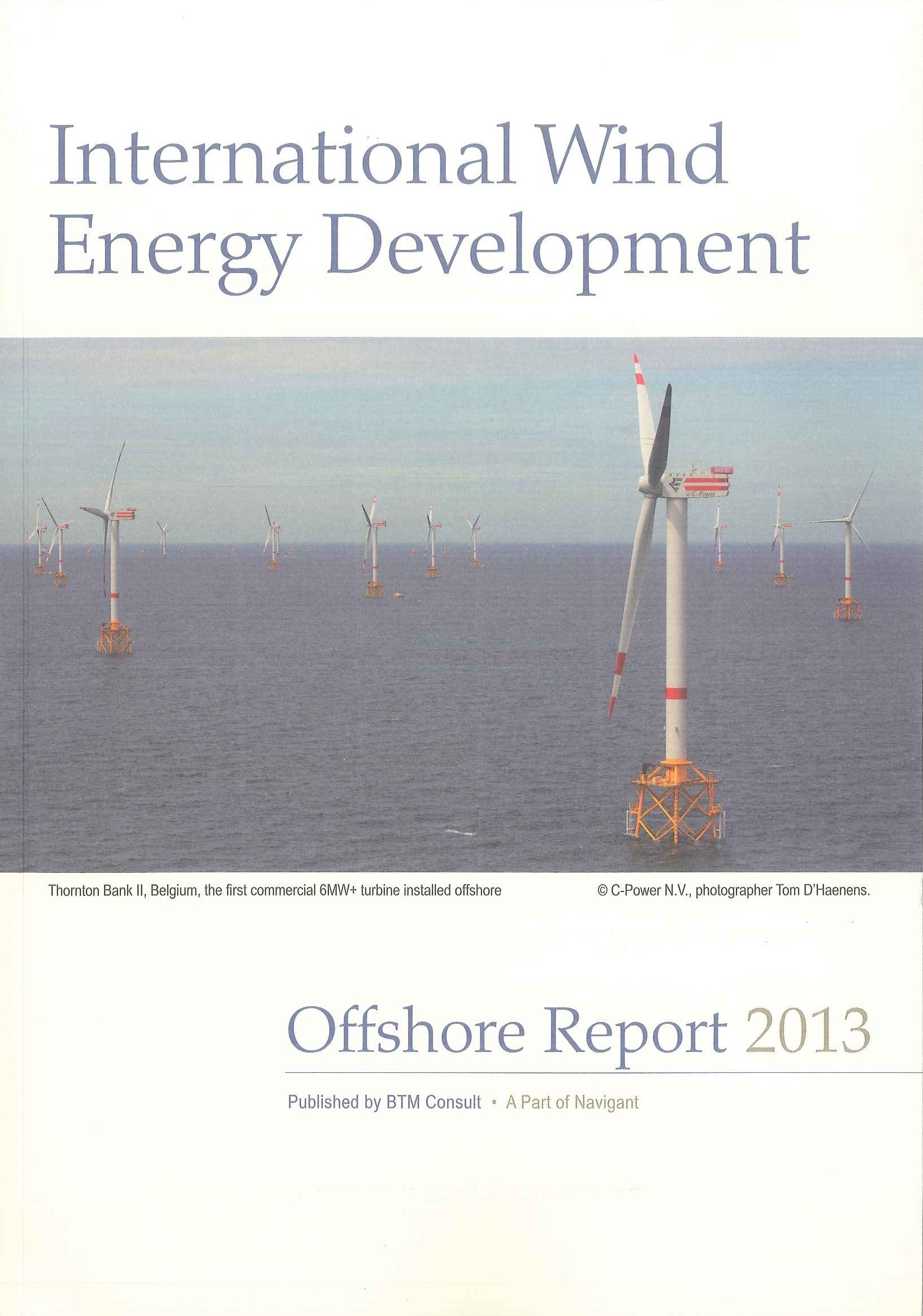 International wind energy development:offshore report 2013