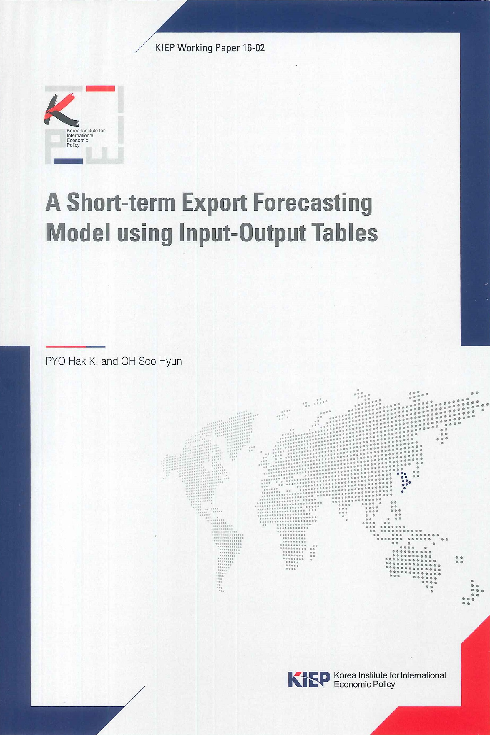A short-term export forecasting moodel using input-output tables