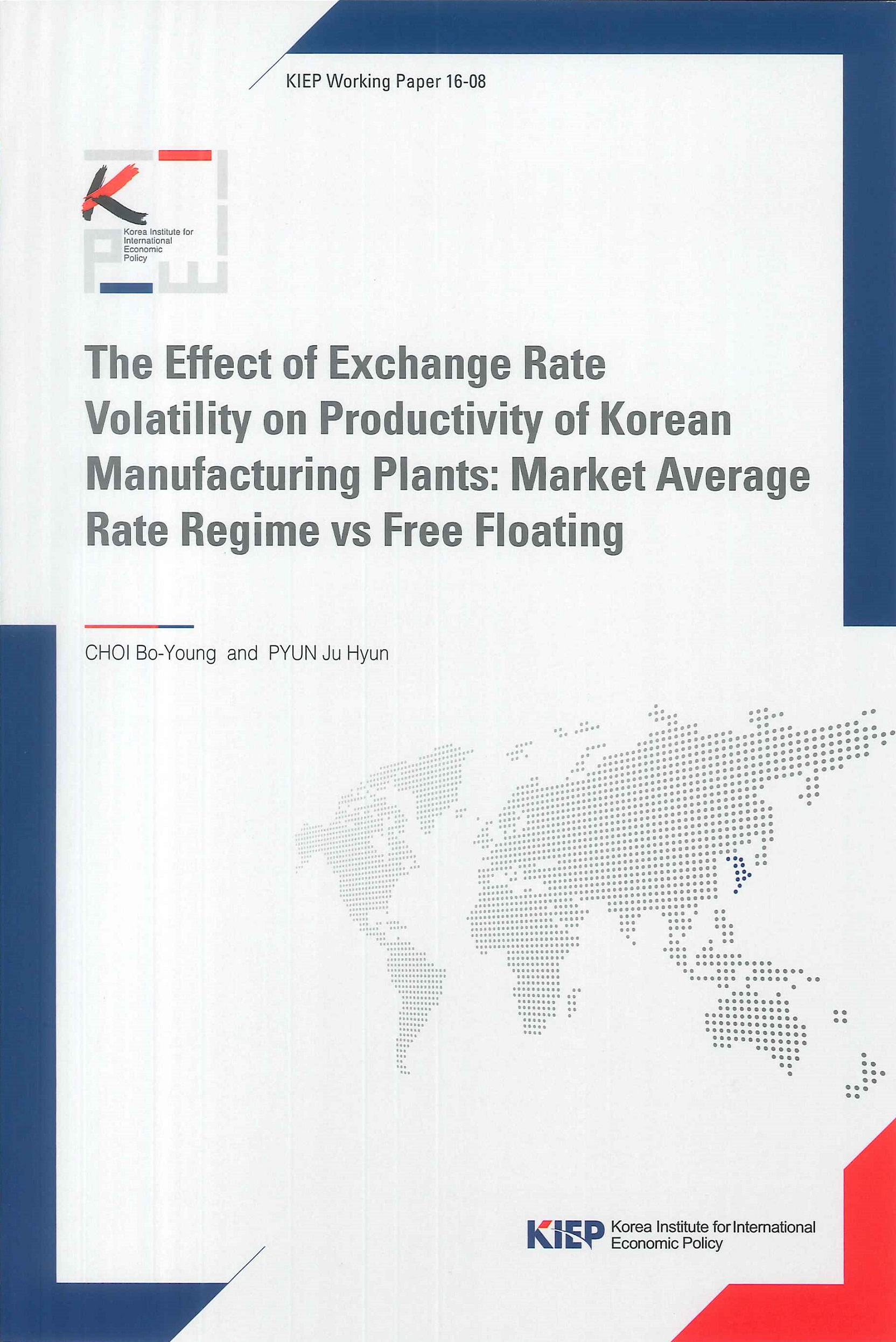 The effect of exchange rate volatility on productivity of Korean manufacturing plants:market average rate regime vs free floating