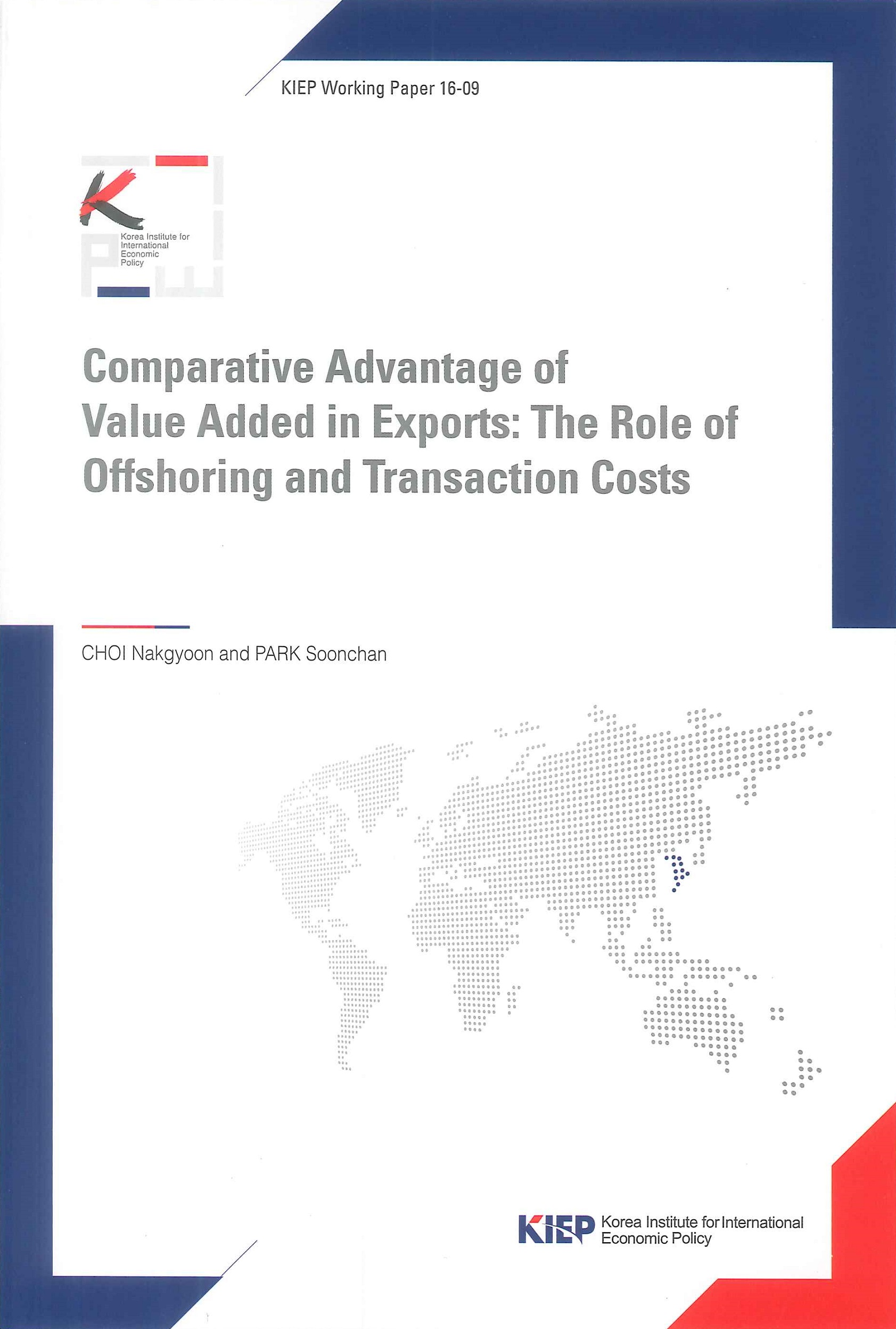 Comparative advantage of value added in exports:the role of offshoring and transaction costs