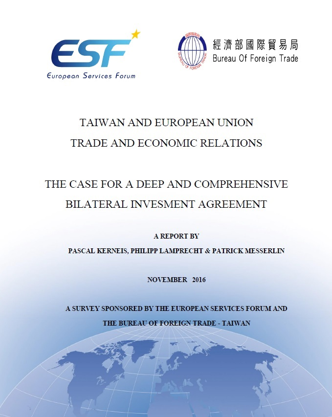 Taiwan and European Union trade and economic relations [e-book]:the case for a deep and comprehensive bilateral invesment agreement