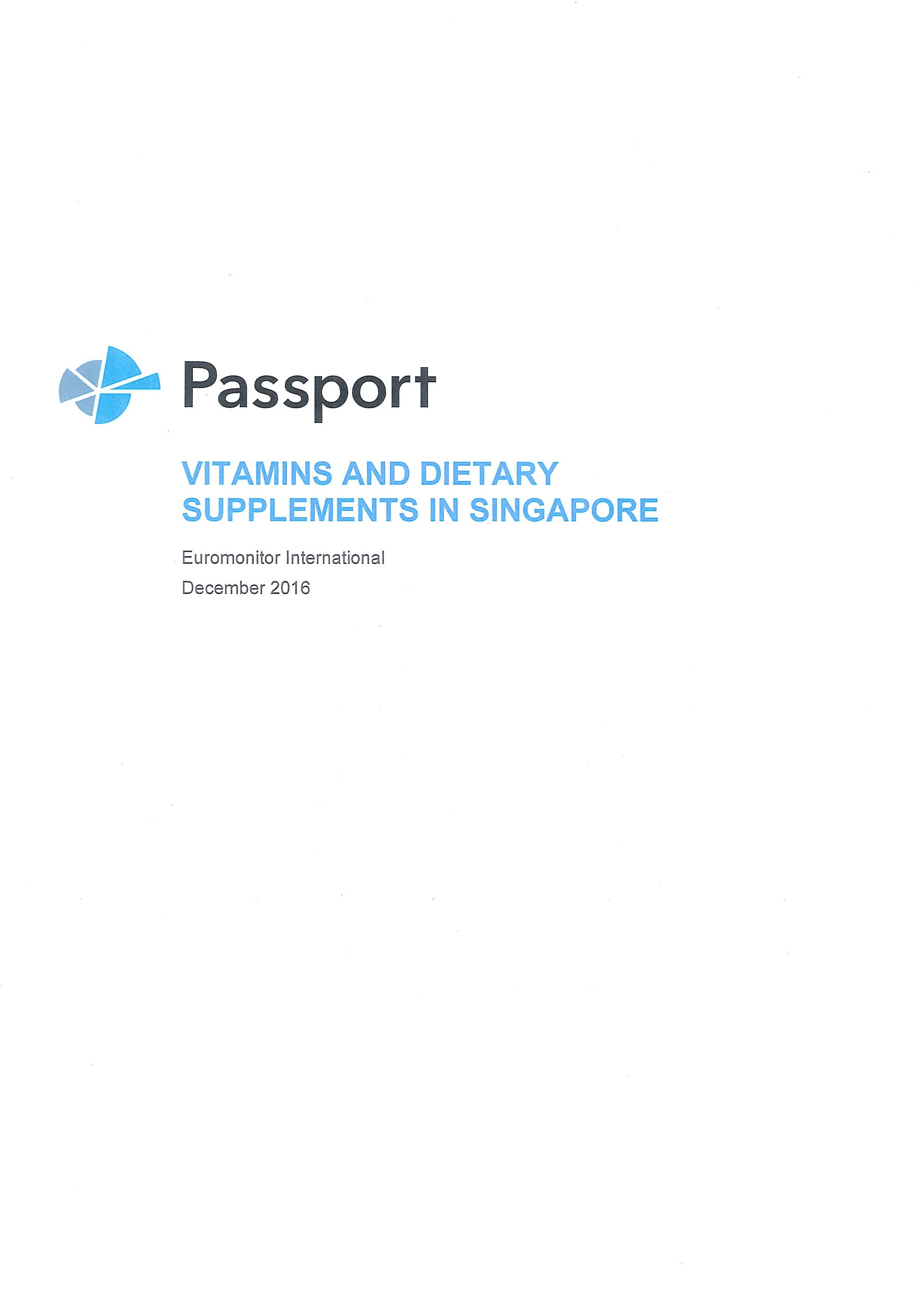 Vitamins and dietary supplements in Singapore [e-book]