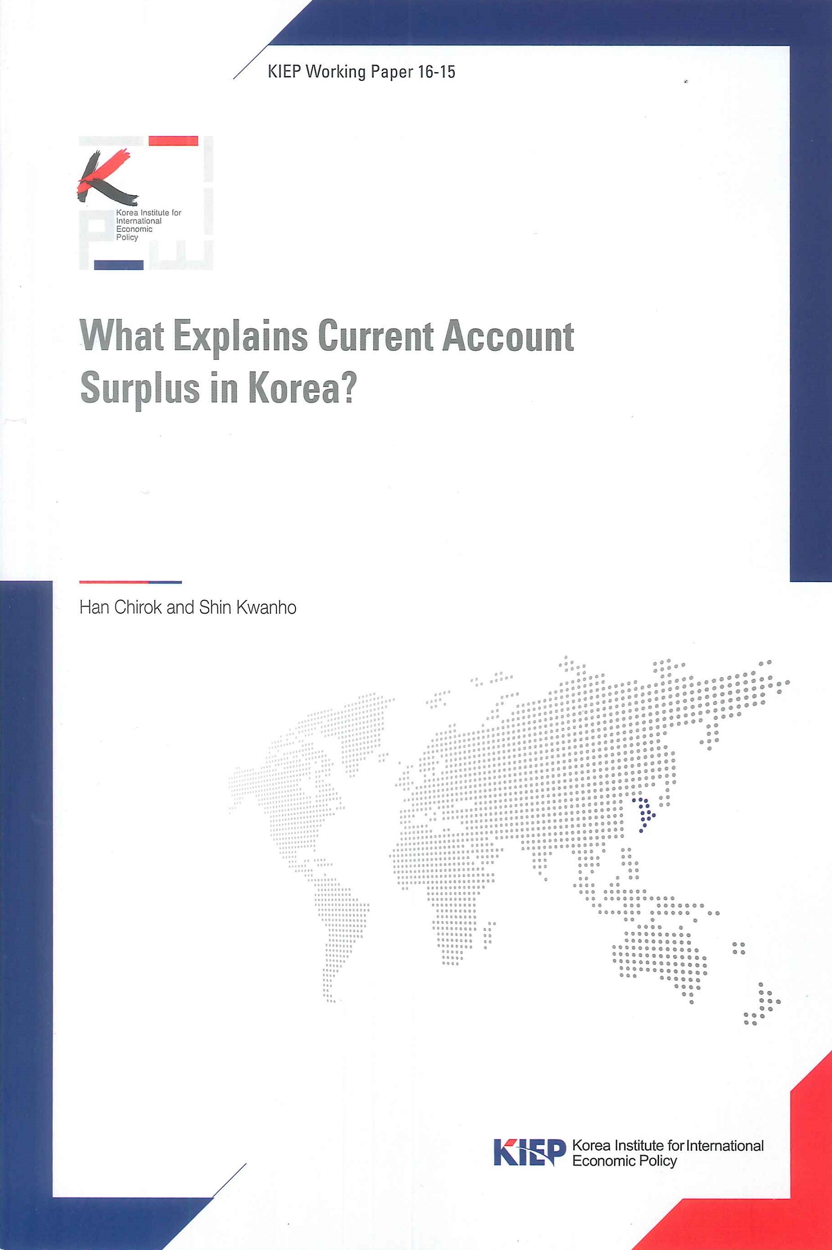 What explains current account surplus in Korea?