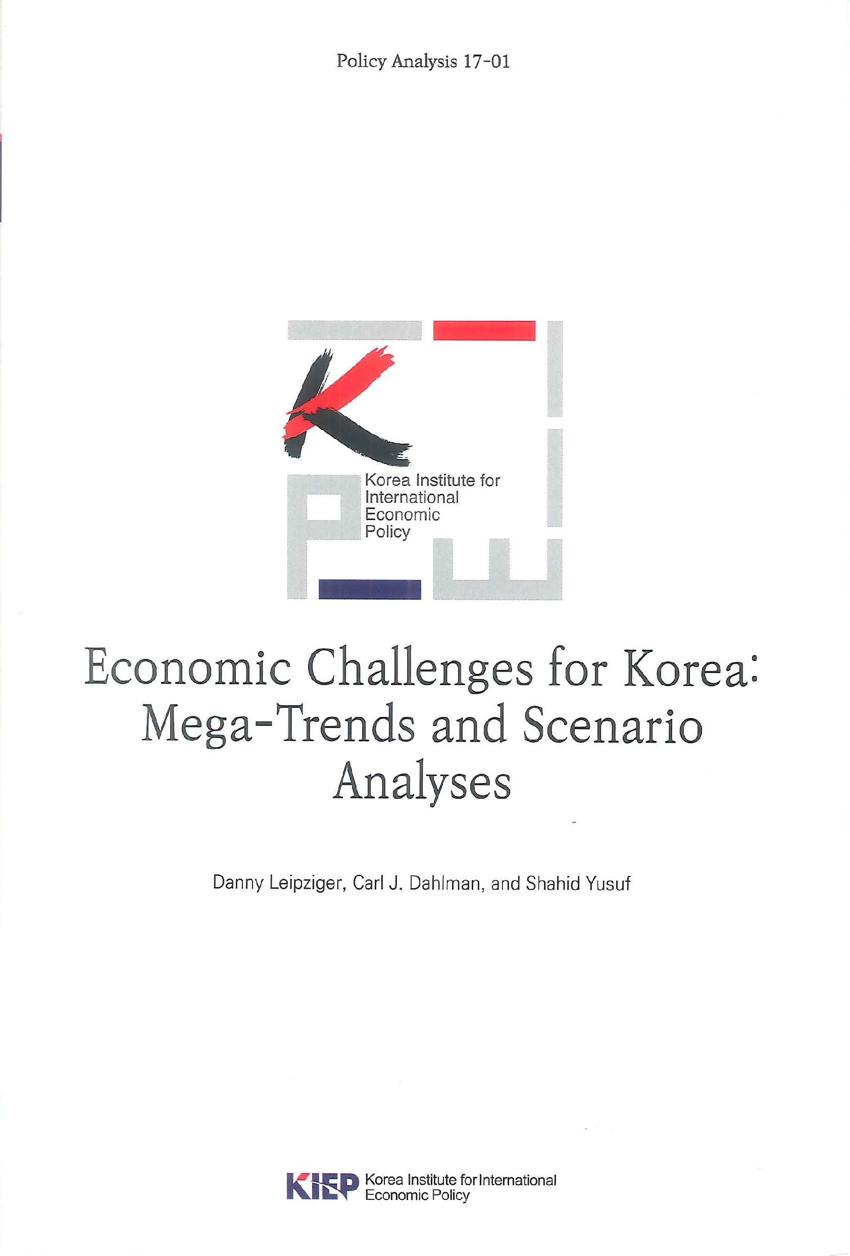 Economic challenges for Korea:mega-trends and scenario analyses