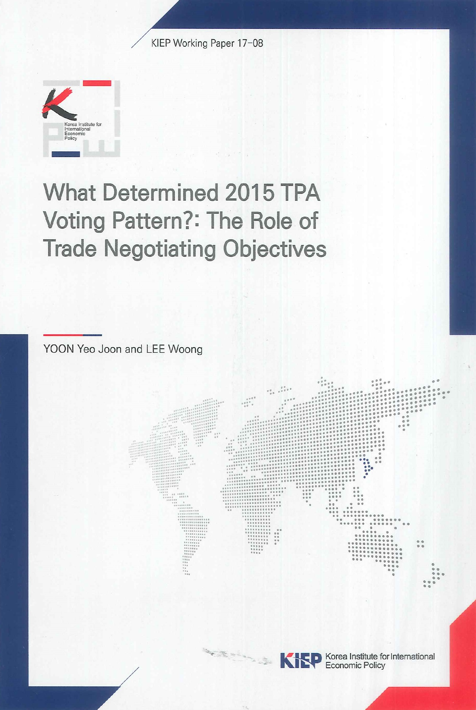 What determined 2015 TPA voting pattern?:the role of trade negotiating objectives