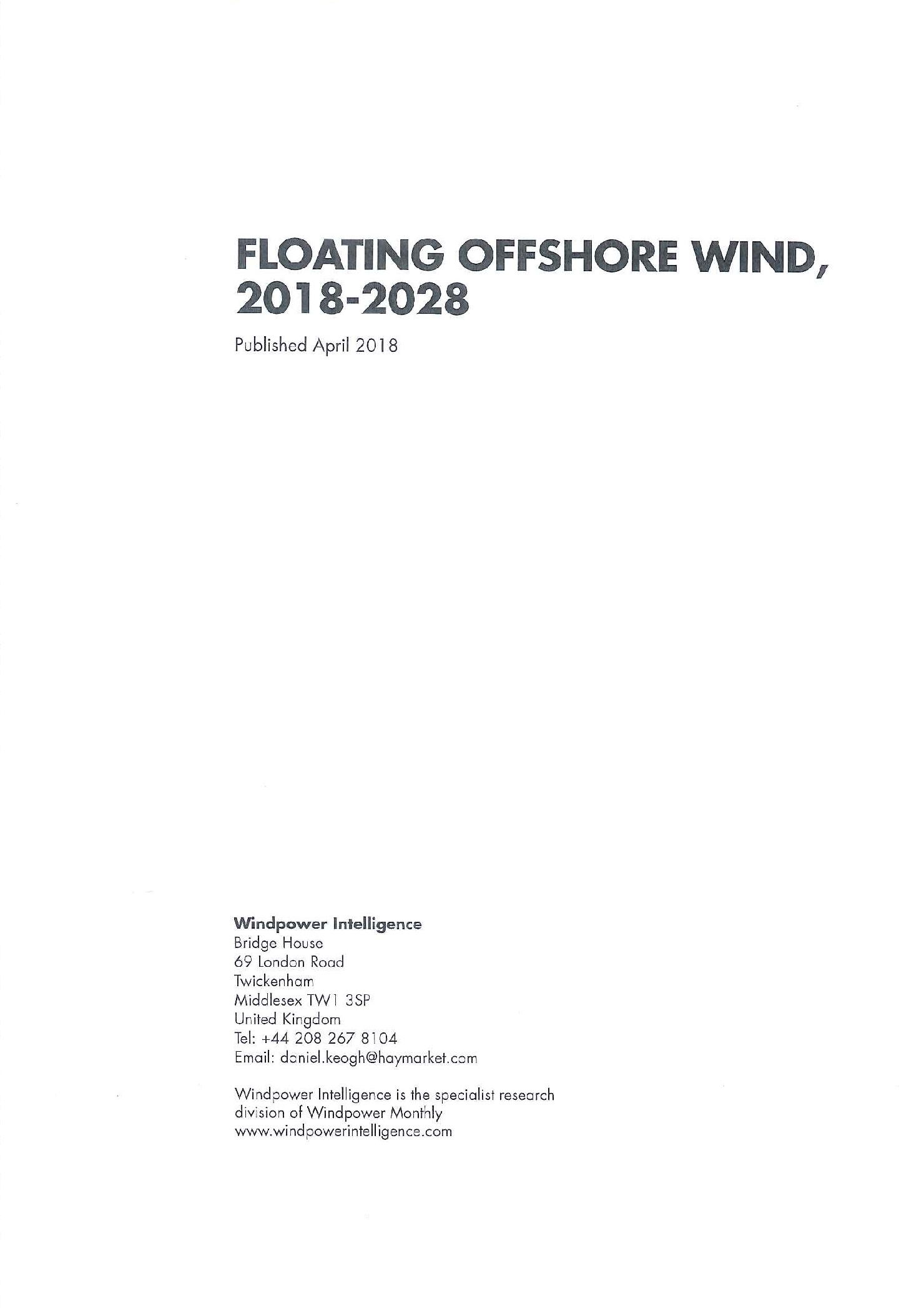 Floating offshore wind [e-book].2018-2028