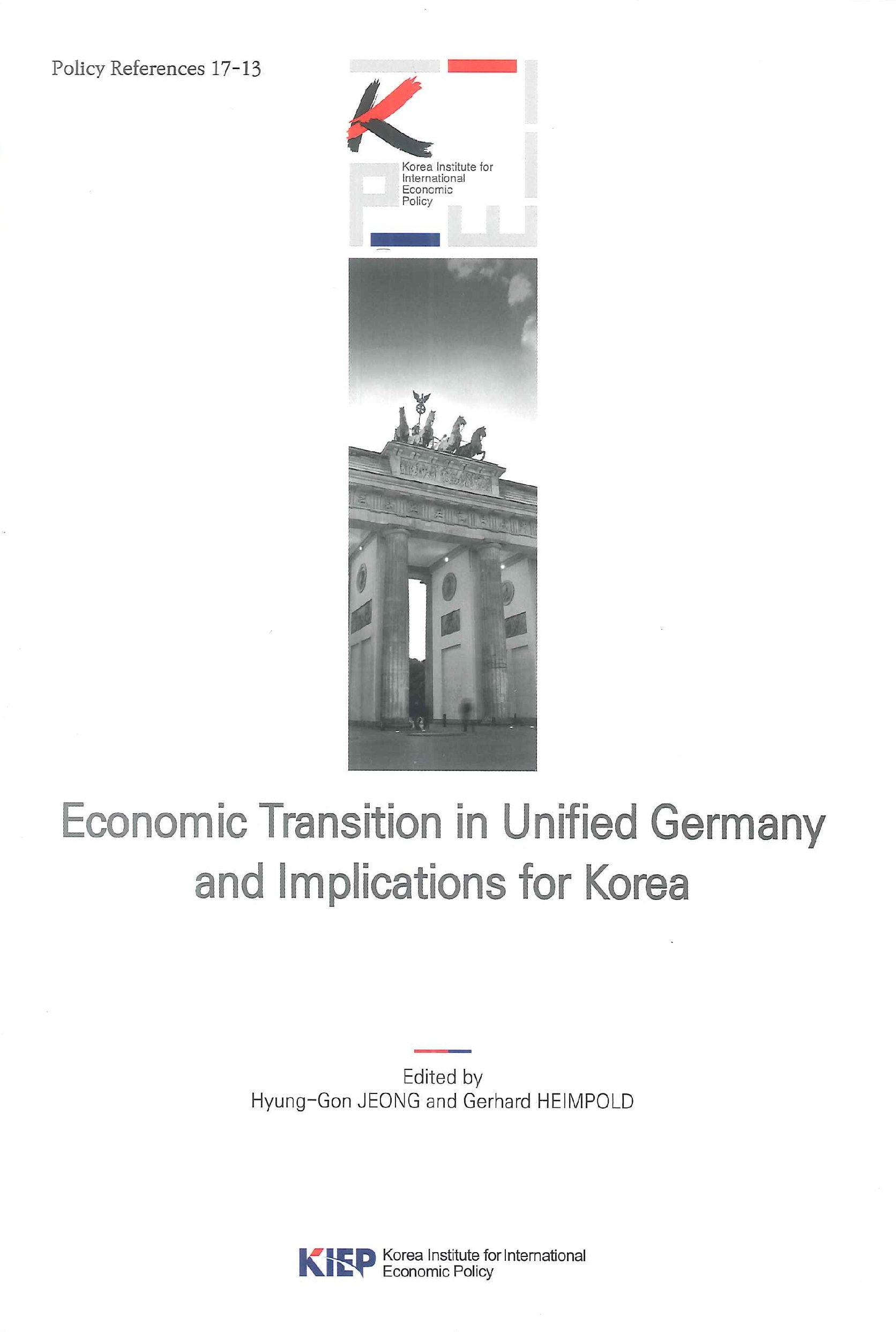 Economic transition in unified Germany and implications for Korea