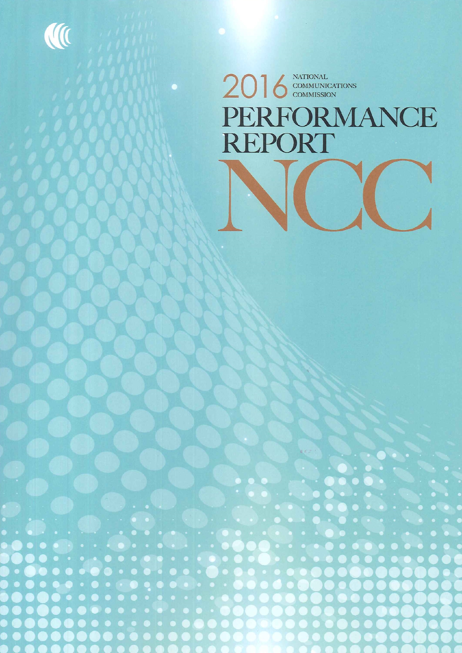 NCC performance reports.2016