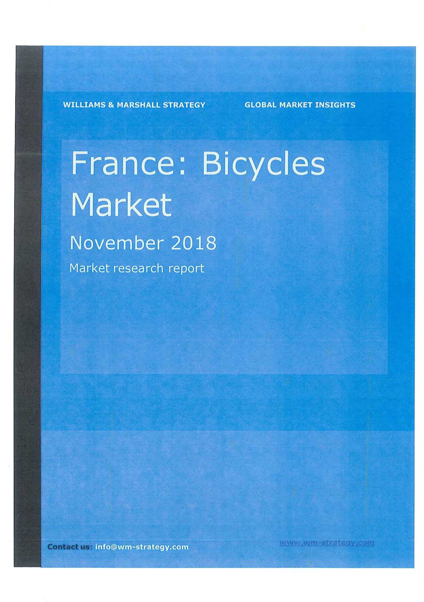 France [e-book]:bicycles market:market research report.