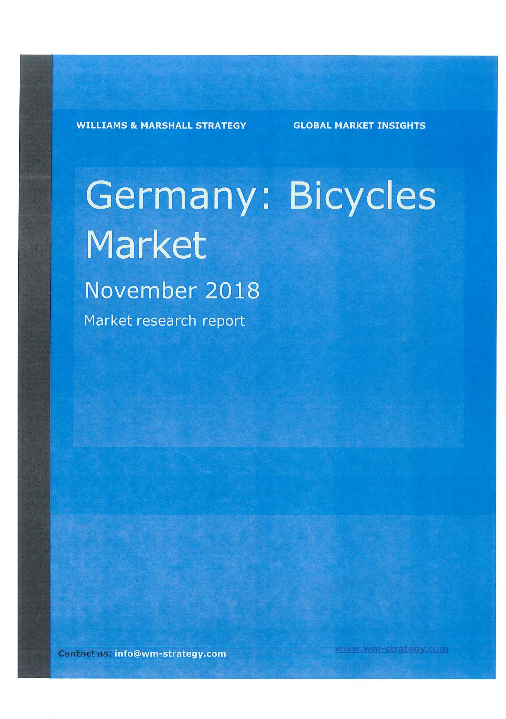 Germany [e-book]:bicycles market:market research report.