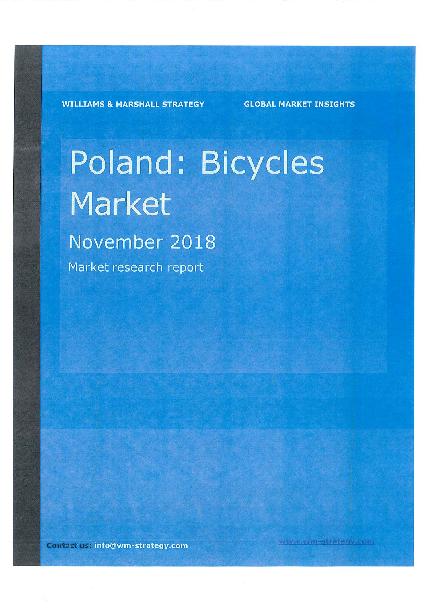 Poland [e-book]:bicycles market:market research report.