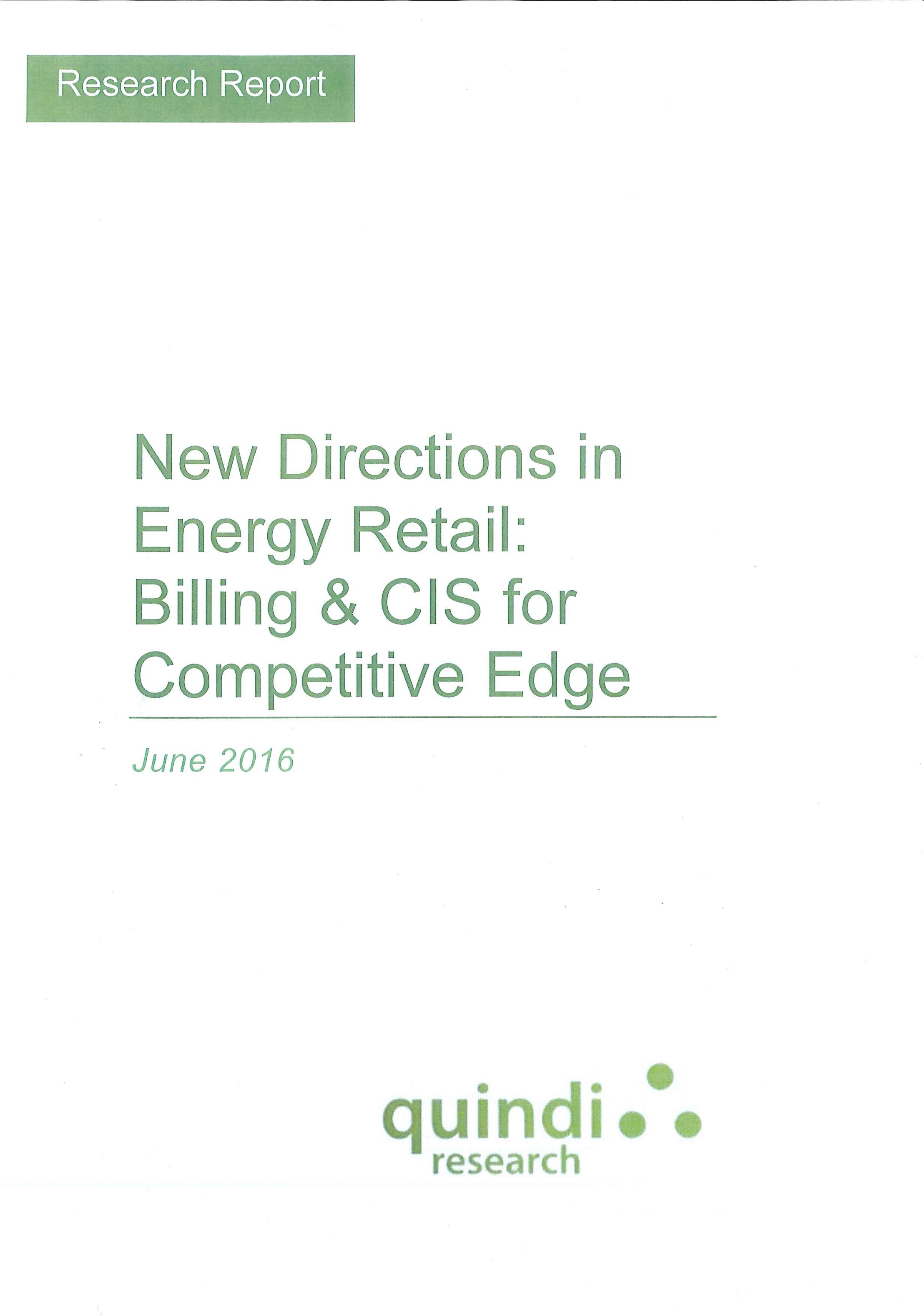 New directions in energy retail [e-book]:billing & CIS for competitive edge