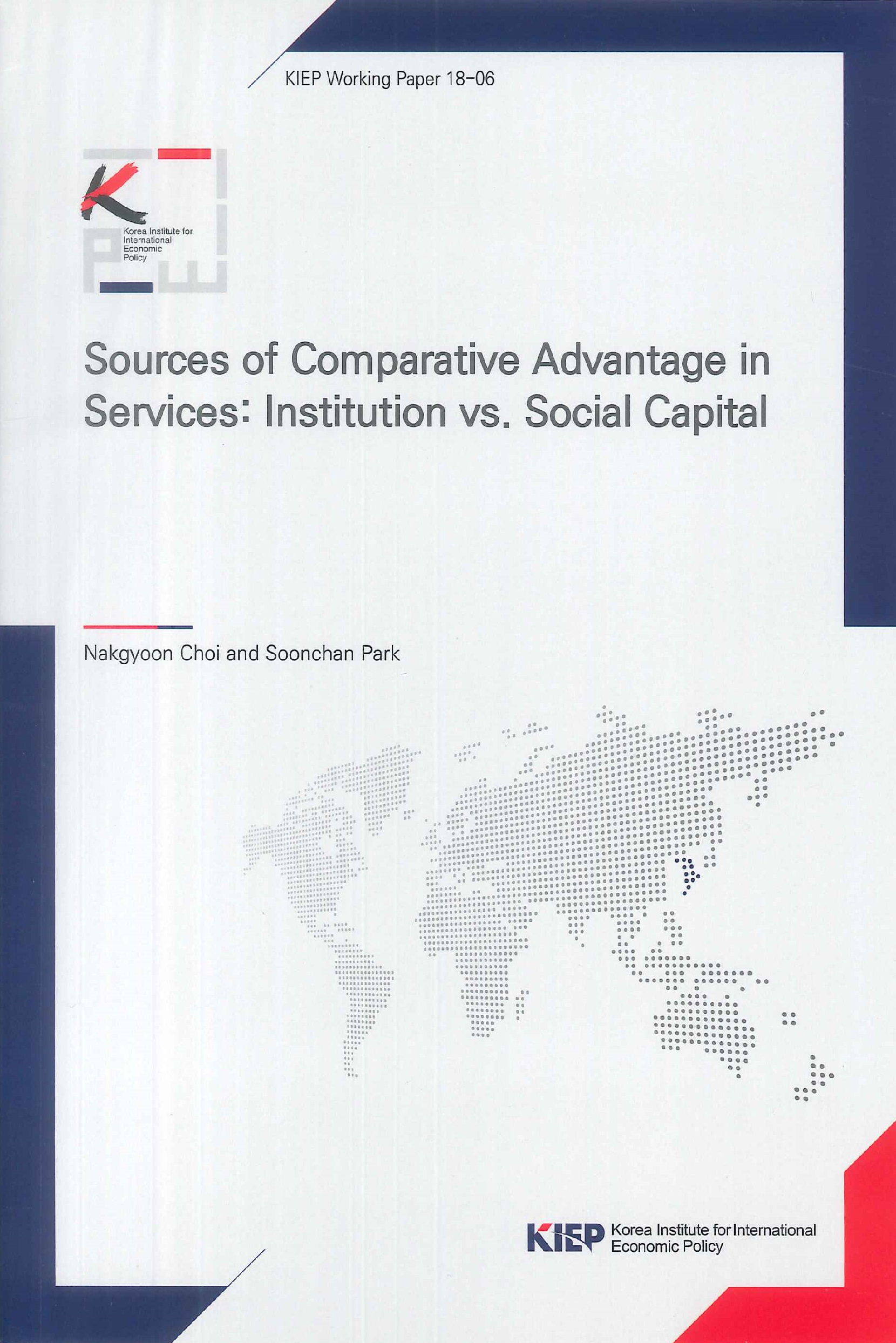 Sources of comparative advantage in services:institution vs. social capital
