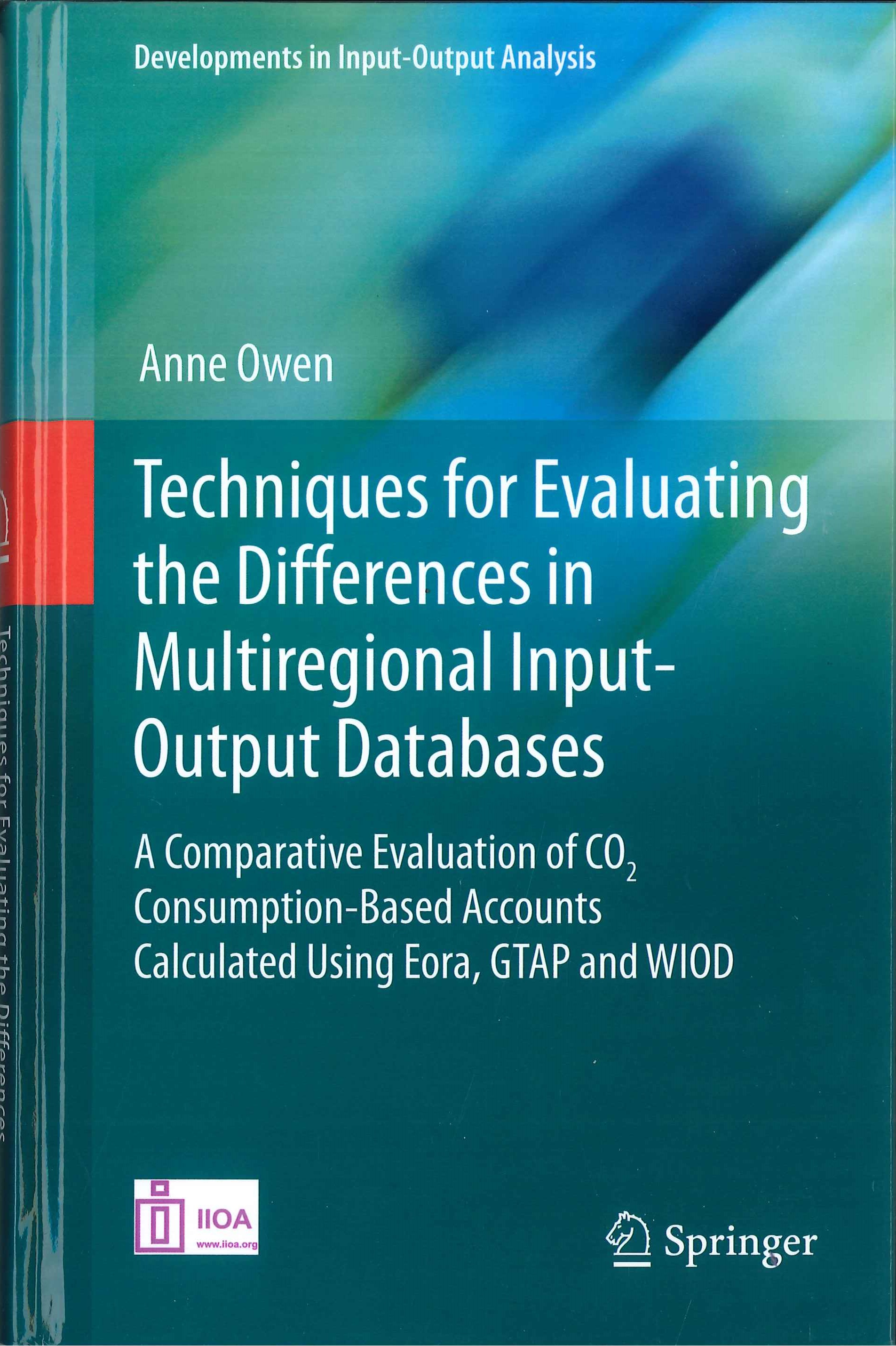Techniques for evaluating the differences in multiregional input-output databases:a comparative evaluation of CO2 consumption-based accounts calculated using Eora, GTAP and WIOD