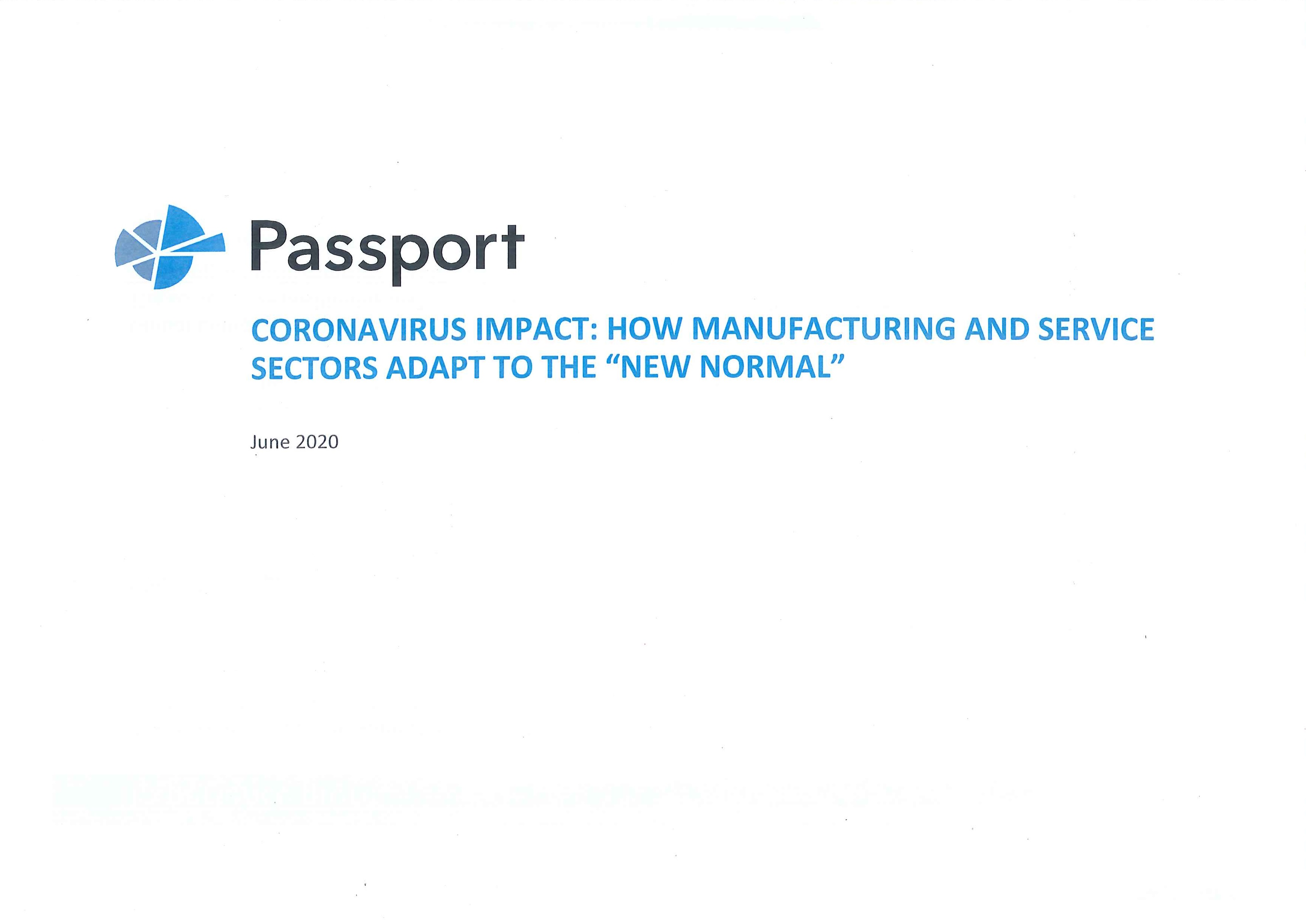 """Coronavirus impact [e-book]:how manufacturing and service sectors adapt to the """"new normal"""""""