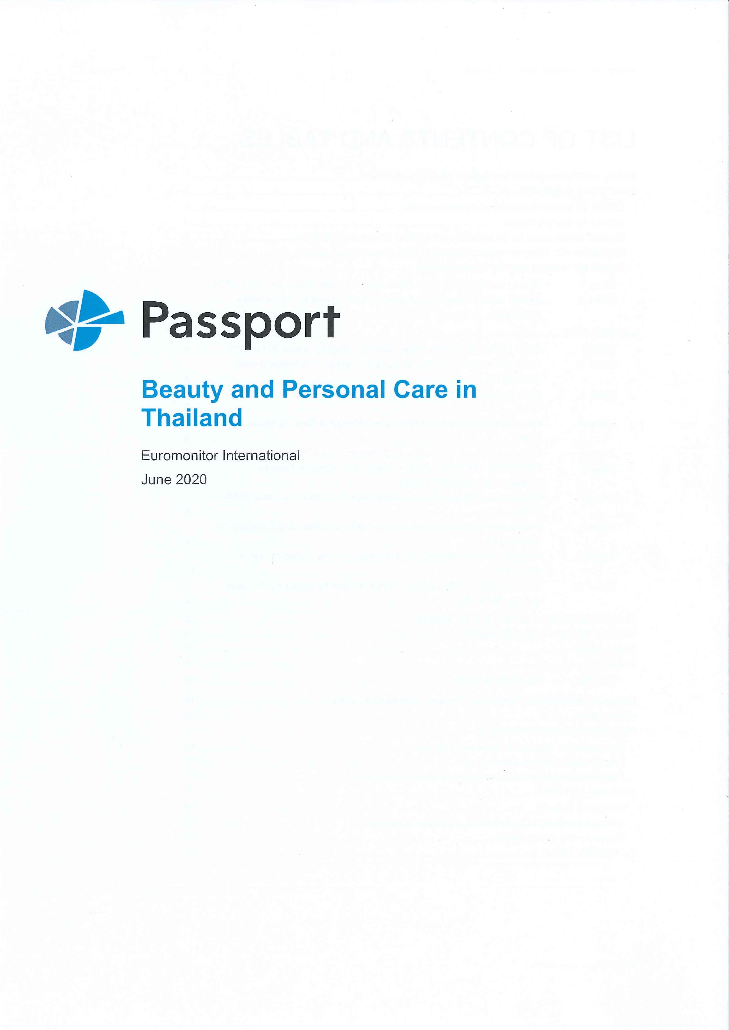 Beauty and personal care in Thailand [e-book]