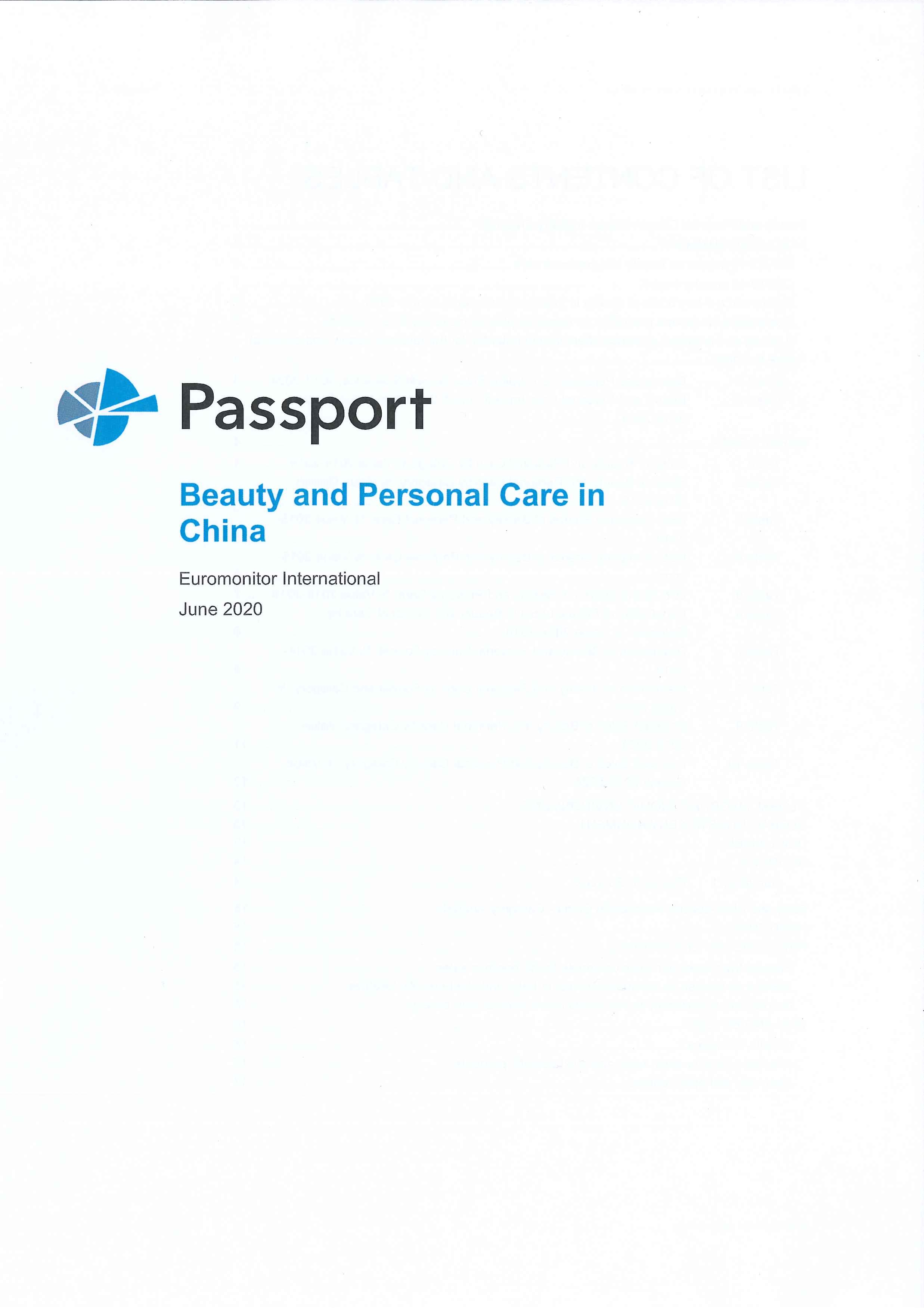 Beauty and personal care in China [e-book]