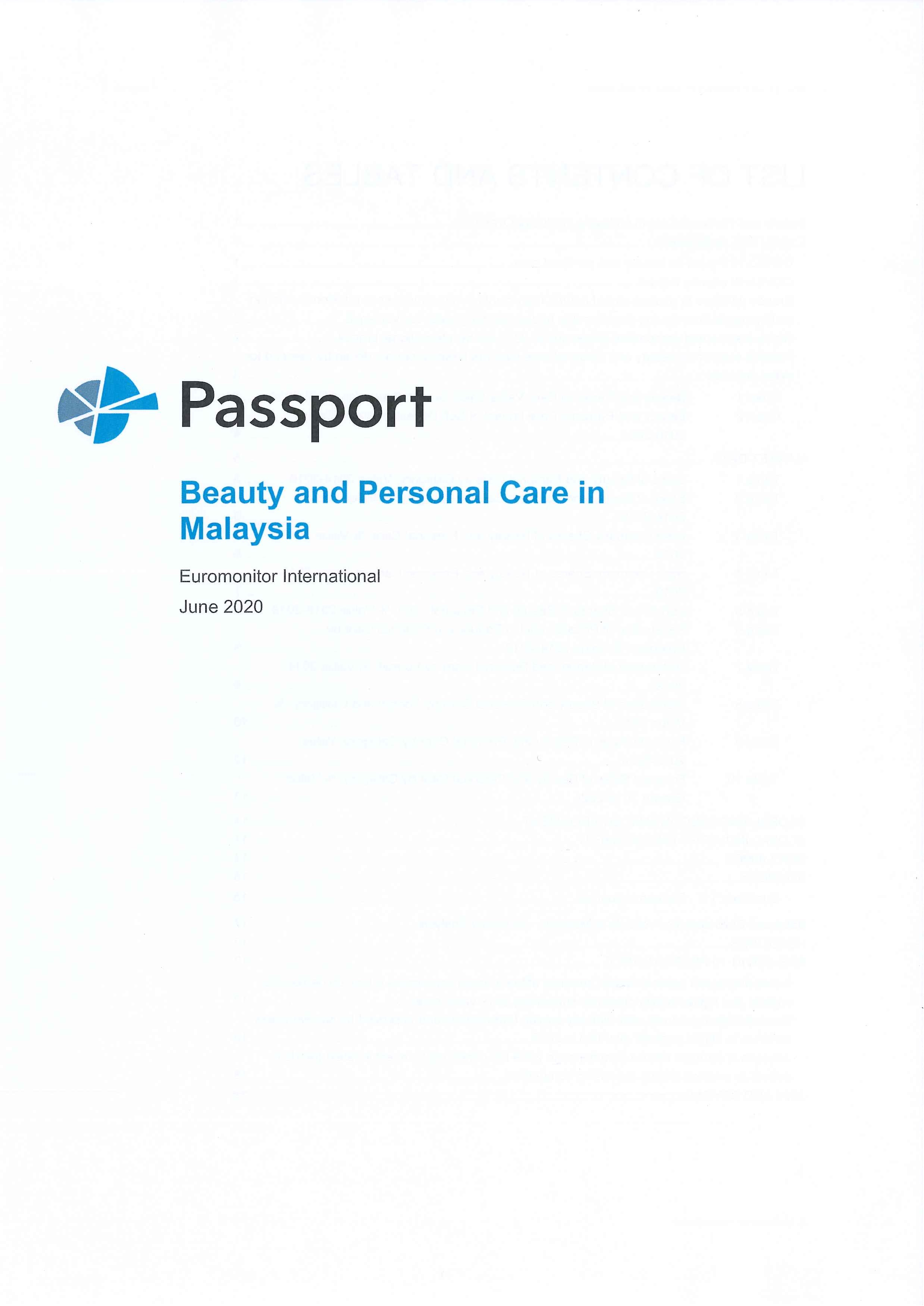 Beauty and personal care in Malaysia [e-book]