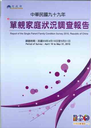 單親家庭狀況調查報告=Report of the single parent family condition survey